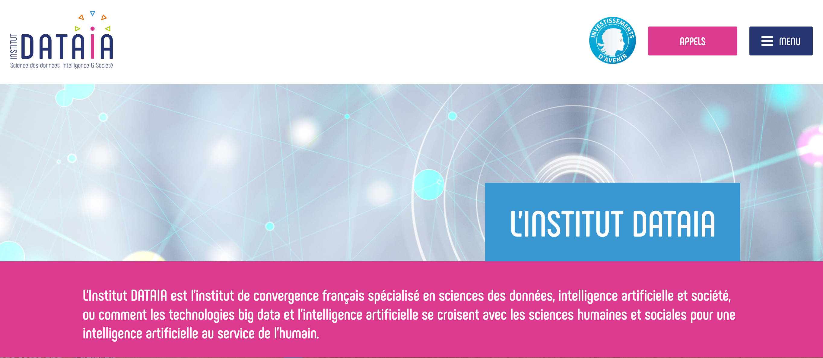 DATAIA Paris-Saclay, a new institute in data sciences, artificial intelligence and society